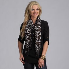 Women's Pink Giraffe Shawl Wrap | Overstock.com Shopping - The Best Deals on Scarves