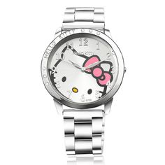 Hot Sale Fashion Full Steel Hello Kitty Watch Women Watches Cute Cartoon Watch Ladies Quartz Watch Girl Hour reloj mujer Isn`t it awesome? Get it here