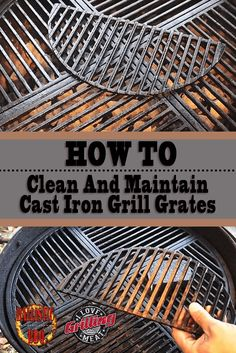 Taking good care of your grill is a vital part of BBQ. Learn how to clean and maintain cast iron grill grates in the video below! Clean Grill Grates, Bbq Grates, How To Clean Bbq, How To Clean Iron, Deep Cleaning Tips, Cleaning Hacks, Grill Cleaning, Cleaning Appliances, Cast Iron Grill