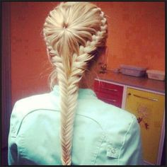 I never thought of doing a star burst braid and fish tail braid in one hairstyle. That's awesome. Beautiful Braids, Gorgeous Hair, Amazing Braids, Amazing Hair, It's Amazing, Pretty Braided Hairstyles, Updo Hairstyle, Braided Updo, Braided Crown