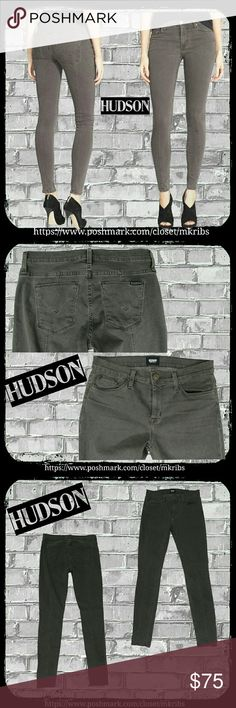 ♥  Hudson Nico Midrise Super Skinny jean 27 Hudson 'Nico mid-rise Super Skinny with Seam'. Wash: depraved, a gray with chocolate brown undertones.  Super skinny with sexy seam down the entire back and half way down the front.   Lots of stretch.  30 inch inseam. More measurements and details in the last photo.  Color best shown in 1st and second photos. First photo is stock of exact style and wash. The other photos are of actual jean, taken by me. NO TRADES PLEASE! REASONABLE OFFERS WELCOME…