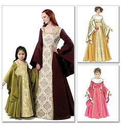 McCall's Costume Pattern: M6376.  Printable Pattern Available.  Misses'/Children's/Girls' Costumes. Difficulty: ?. Size Miss (Sm-Med-Lrg-Xlg)
