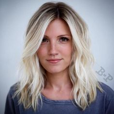 Blonde Balayage Lob With Root Fade Oval Face Hairstyles, Lob Hairstyle, Hairstyles Haircuts, Straight Hairstyles, Cool Hairstyles, Haircuts For Oval Faces, Blonde Hairstyles, Shaved Hairstyles, Casual Hairstyles