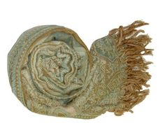 Real Authentic Mixed Color Wool Paisley Pashmina Shawl Hand Crafted Paisley Design Peach Couture. $44.95