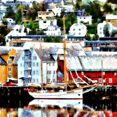 "FiISHING HARBOR BY BOB SMERECKI. New media includes computer graphics, digital painting, digital art and  photo painting. This is a beautiful digital painting. Now scroll through Pinterest pins of ""Digital Painting As Art"" which have impressed Two Bananas Art and me the most.  SEE MORE DIGITAL PAINTING AS ART NOW.... https://richard-neuman-artist.com/works"