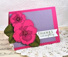 Violet Thank You Card by Dawn McVey for Papertrey Ink (February 2013)