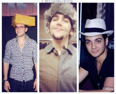 Gianluca ginoble, Ignazio boschetto,  And Piero barone  wearing hats.