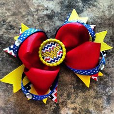 Wonder Woman Boutique Bow by GracieJDesignsEtsy on Etsy, $7.25