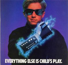 The 'Nintendo Entertainment System' (NES) Power Glove Advertisement. Vintage Video Games, Classic Video Games, Retro Video Games, Video Game Art, Retro Games, Nintendo, 80s Ads, 1980s, Power Glove