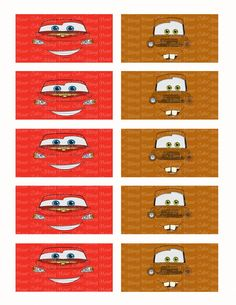 Disney Cars Lightning McQueen & Tow Mater Face Edible Icing Sheet Cake Decor Topper - DC5