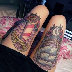 Perfect sized thigh tattoos
