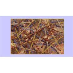 """Quadri Astratti Rilievo """"Graffi di colore"""" Materico astratto su tela. Ruvido, crostoso, screpolato, abbina l'astratto alla materia fondendoli in un'unica cosa. I colori volutamente ricercati nelle tonalità terra con tocchi di viola, hanno inseriti graniglie e schegge colorate con perline."""