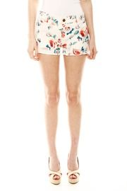 Vintage flair. Shoptiques Floral Denim Shorts