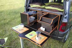 Would you like to go camping? If you would, you may be interested in turning your next camping adventure into a camping vacation. Camping vacations are fun and exciting, whether you choose to go . Minivan Camper Conversion, Car Camper, Mini Camper, Camper Life, Camper Trailers, Bus Conversion, Minivan Camping, Truck Camping, Kangoo Camper