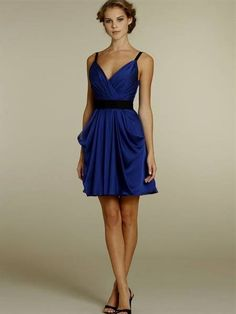 short blue chiffon bridesmaid dresses 2016 » Free Wedding Board