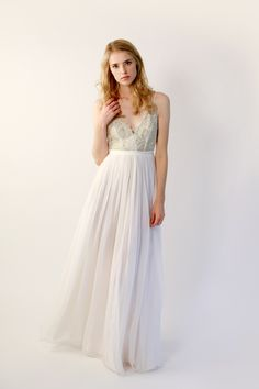 Ethereal, unique wedding gowns by Leanne Marshall featuring signature watercolor and hand-dyed dresses . Unique Wedding Gowns, Used Wedding Dresses, Chic Wedding, Wedding Bride, Wedding Styles, Bridal Gowns, Lace Wedding, Dream Wedding, Wedding Stuff