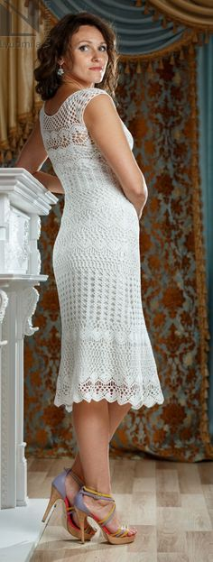 3df9a8a4c1da летнее вязаное платье крючком Вязаная Крючком Блузка, Вязание Крючком  Кружева, Вязанное Платье, Вязание