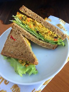 Curry Chickpea Salad Sandwich Recipe