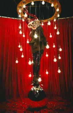 Like the red curtain.  Selfridges