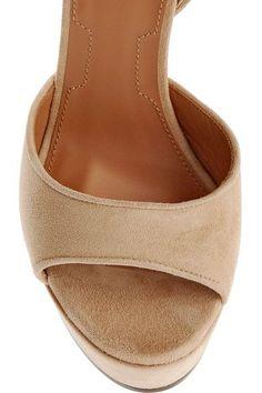 Givenchy - Shark Lock Suede Platform Sandals - IT