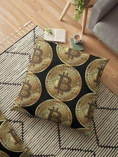 'Bitcoin' Floor Pillow by Floor Pillows, Throw Pillows, Crypto Money, Buy Bitcoin, Cryptocurrency, Internet, Luxury, Decoration, Prints