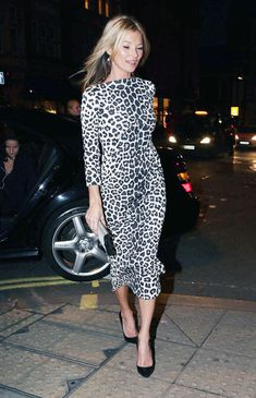 Kate in leopard.
