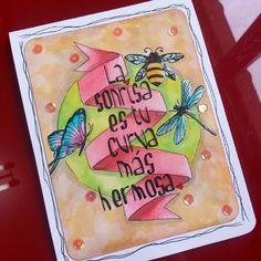 Buenos diaas!  Sabado nublado... Y el cuerpo nos pide sol calor y playa!  Aqui os dejo una nueva tarjeta ya disponible y a precio de risa!  #artisanal #artesania #artisan #abeja #butterfly #card #disstresink #españa #elbauldemay #handmade #hechoamano #igerleon #igerleonesp #leonesp #leon #libelula #mariposa #manualidad #manualidades #scrapbooking #scrap #spring #spain  #tarjetaspersonalizadas #tarjetaconmensaje by elbauldemay