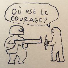 J. Sfar. En hommage à Charlie Hebdo, les dessinateurs du monde entier prennent la plume