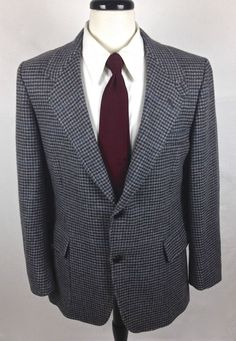 Pendleton Blazer Mens 40 R Gray Wool Sport Coat Hunting Jacket  #Pendleton #TwoButton