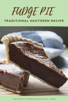 Southern Fudge Pie - - A real Southern recipe! This pie is so good you'll want to slap your momma! -Traditional Southern Fudge Pie - - A real Southern recipe! This pie is so good you'll want to slap your momma! Chocolate Pie Recipes, Chocolate Desserts, Chocolate Fudge Pie, Homemade Chocolate Pie, German Chocolate Pies, Chocolate Meringue Pie, Chocolate Decorations, Chocolate Fondue, Gourmet