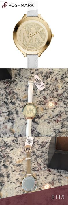 Michael Kors slim runway watch. NWT NWT Michael kors slim runway watch. White leather strap. Gold face . Michael Kors Accessories Watches