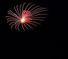 Fireworks at Lake Gaston