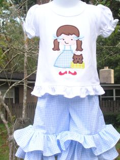 dorothy outfit I wonder if I could make the shirt in my size! Hmmmmmm