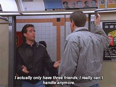 """20 Reasons """"Seinfeld"""" Is An Accurate Depiction Of Real Life Three Friends, Friends Tv, Quotes Arabic, Seinfeld, Pride And Prejudice, Proud Of You, Bad News, Quote Aesthetic, Series Movies"""