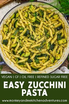 Whole Food Recipes, Diet Recipes, Vegan Recipes, Plant Based Whole Foods, High Fat Foods, Vegan Parmesan, Zucchini Pasta, Vegan Pasta, How To Cook Pasta