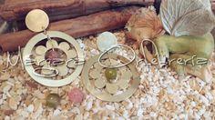 Aros de bronce y ágatas cambiables #margaraorfebreria