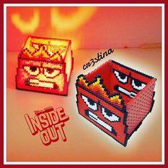 Anger box - Inside Out hama beads by cr3stinayoutube