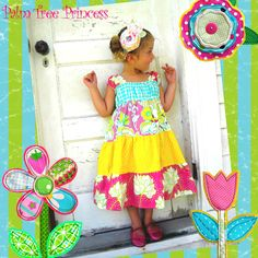 Sunshine tiered dress from Palm Tree Princess