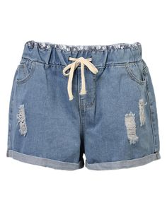Specification    Season: Summer  Material: Denim   Pattern: Pure Color   Style: Casual