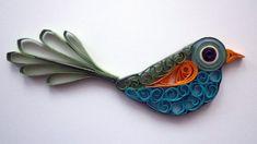 Quilling Sanatı - Kuş Heykeli - Makaraya sarma - teknikleri, örnekleri ve ipuçlarını videolu anlatımı. Kağıttan heykel yapımı