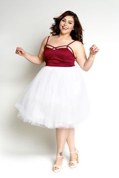 Plus Size Clothing for Women - Cool Gal Tutu - White (Sizes 1X - 6X) - Society+ - Society Plus - Buy Online Now! - 1