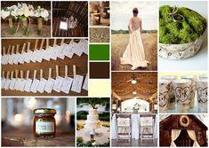 Rustic Chic Style Wedding - Green #wedding #inspirationboard created on www.sampleboard.com