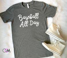 Baseball All Day Shirt, Baseball Mom Shirt, Baseball Mama Shirt - T-Shirt Womens Baseball T Shirts, Softball Shirts, Baseball Pants, Softball Mom, Sports Shirts, T Shirts For Women, Baseball Outfits, Baseball Stuff, Fastpitch Softball