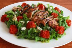 Chicken Recipes Grilled Chicken and Roasted Cherry Tomato Salad with Herbed Champagne Dijon Vinaigrette recipe