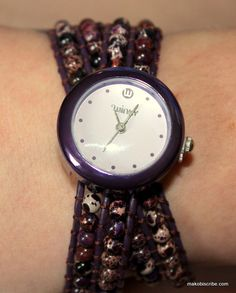 Unique Watches For Women - Unique Watches, Beautiful Watches, Urban Chic Looks, Brown Leather Strap Watch, Different Colors, Bracelet Watch, Bling, Gift Ideas, Makeup