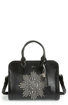 Alexander McQueen 'Small Padlock' Studded Calfskin Leather Duffel Bag available at #Nordstrom