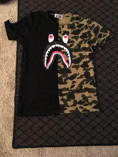 4b9bbd1e5 Men's Bape t Shirt Camo Shark A Bathing Ape Tee Shirt US Size #fashion #