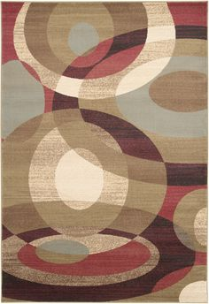 Surya Riley RLY5007 Red/Brown Contemporary Area Rug