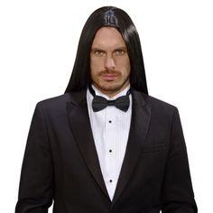 Lange vampieren pruik heren zwart  Zwarte lange pruik voor heren. Prachtige zwarte pruik met lang haar voor heren. Geschikt voor volwassenen.  EUR 29.95  Meer informatie
