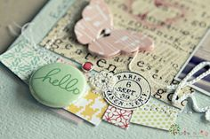 A detail of my new page. Badge Button HELLO by Think Spring on Etsy